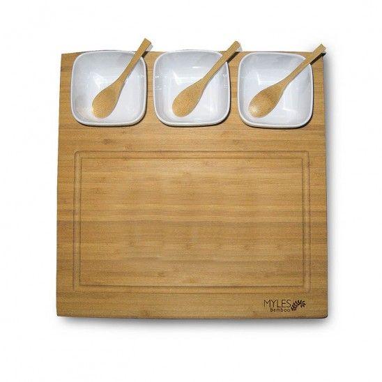 7 Piece Bamboo Cutting Board Set