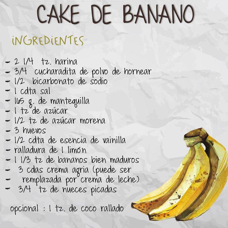 Hoy compartimos con ustedes esta deliciosa #recetachokolat : CAKE DE BANANO!!! INGREDIENTES ·  2 1/4 tz. harina ·  3/4 cucharadita de polvo de hornear ·  1/2 bicarbonato de sodio ·  1 cdta sal ·  165 g. de mantequilla ·  1 tz de azúcar ·  1/2 tz de azúcar morena ·  3 huevos ·  1/2 cdta de esencia de vainilla ·  ralladura de 1 limón ·  1 1/3 tz de bananos bien maduros ·  3 cdas crema agria (puede ser remplazada por crema de leche) ·  3/4  tz de nueces picadas  opcional : 1 tz. de coco…