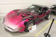 C3 Corvette #pink #flames