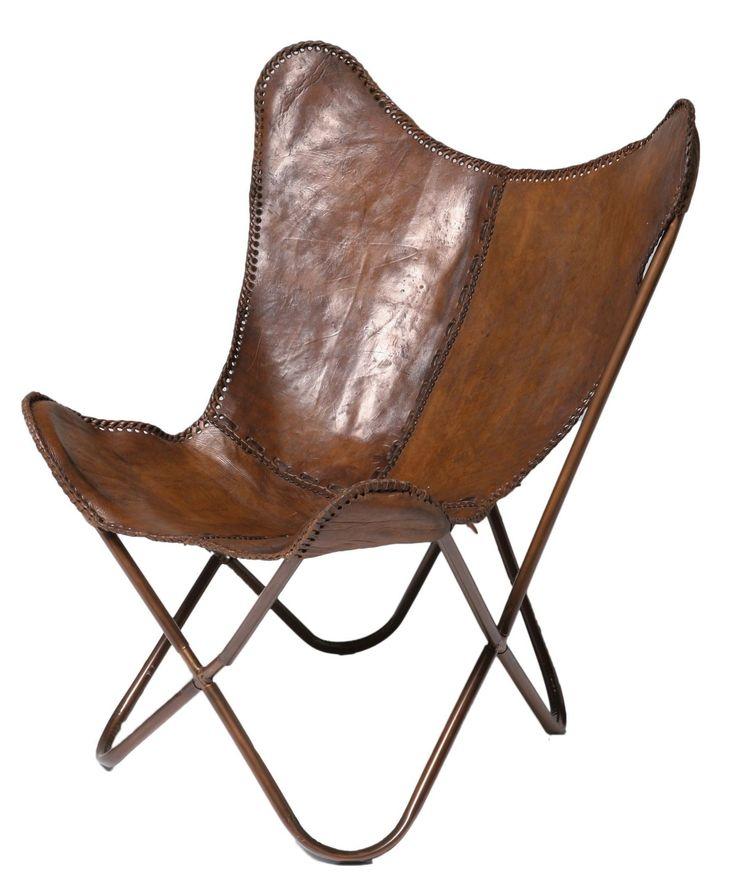 Vlinderstoel Leer Kare Design