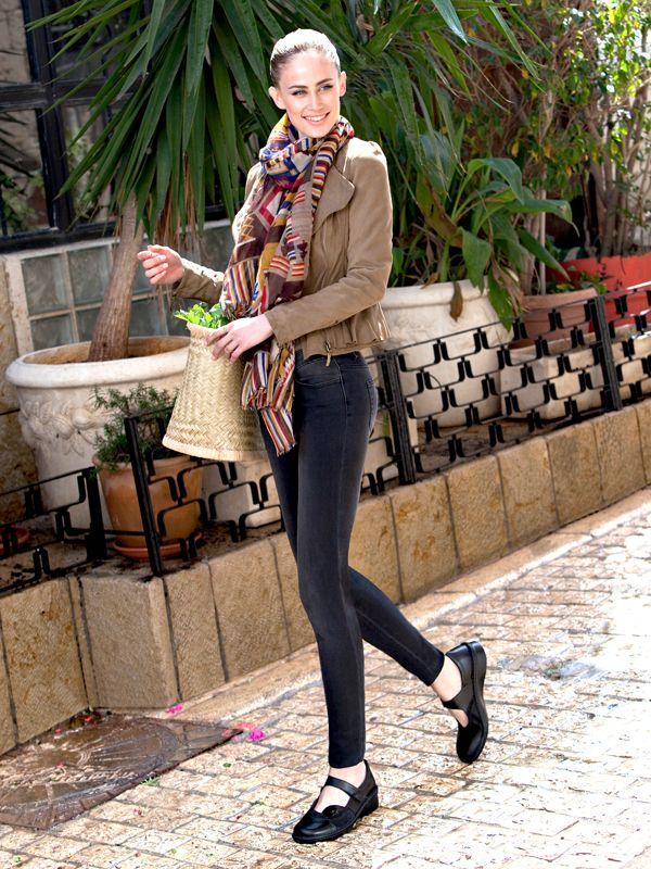 NAOT - CONGA Black Combo (Lifestyle Image) #NAOT #footwear #shoes #maryjane #orthoticfriendly #fashion #comfort #style #removableinnersole