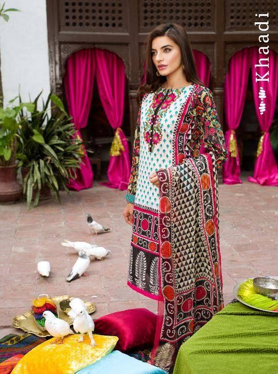 Khaadi Lawn Eid Festival Collection 2015 for Women