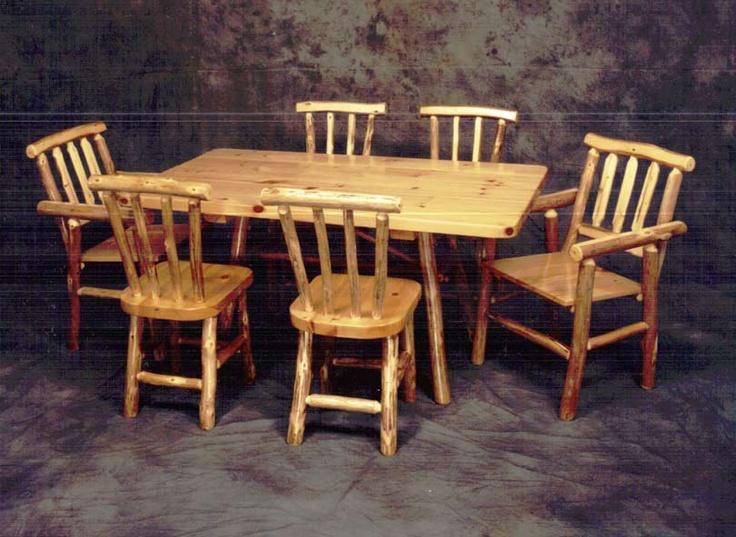 Log Furniture: 7 Piece Dining Set