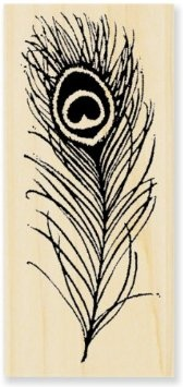 Amazon.com: Stampendous Wood Mounted Rubber Stamp: Peacock Feather: Arts, Crafts & Sewing