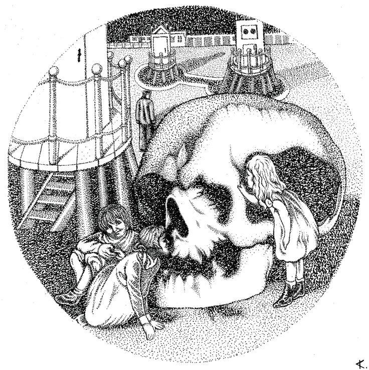 Alessandro Canu #skull #illustration