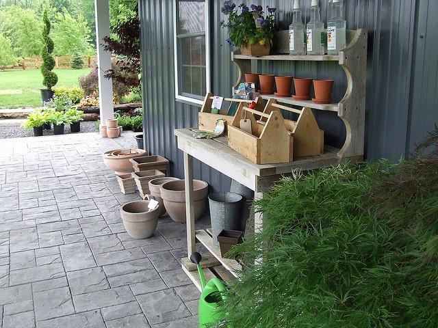 119 besten Potting Benches Bilder auf Pinterest Gardening - gartenarchitektur