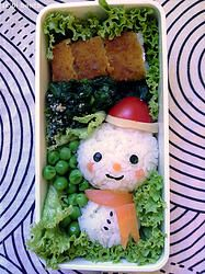 tsibi bento snowman bento / 雪だるまのお弁当