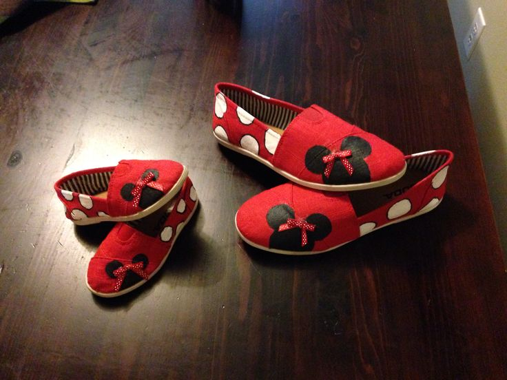 Minnie Mouse toms! Made by me