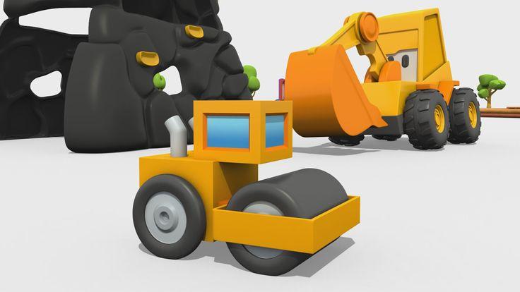 Cartoni Animati per Bambini - Max l'escavatore: come si costruisce un rullo compressore?