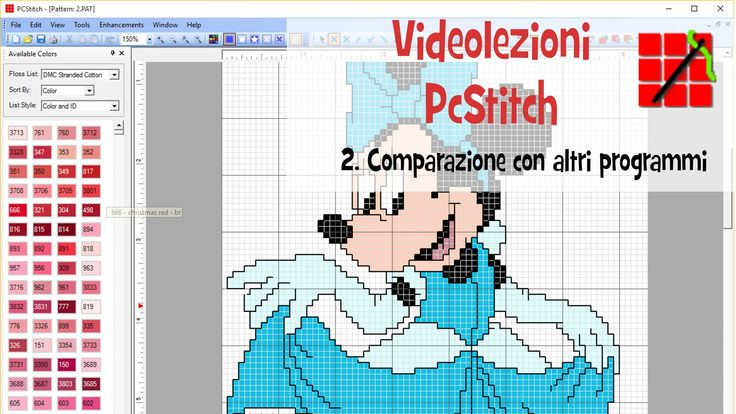 Tutorial PcStitch - 2. Comparazione con altri programmi
