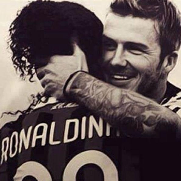 David Beckham and Ronaldinho