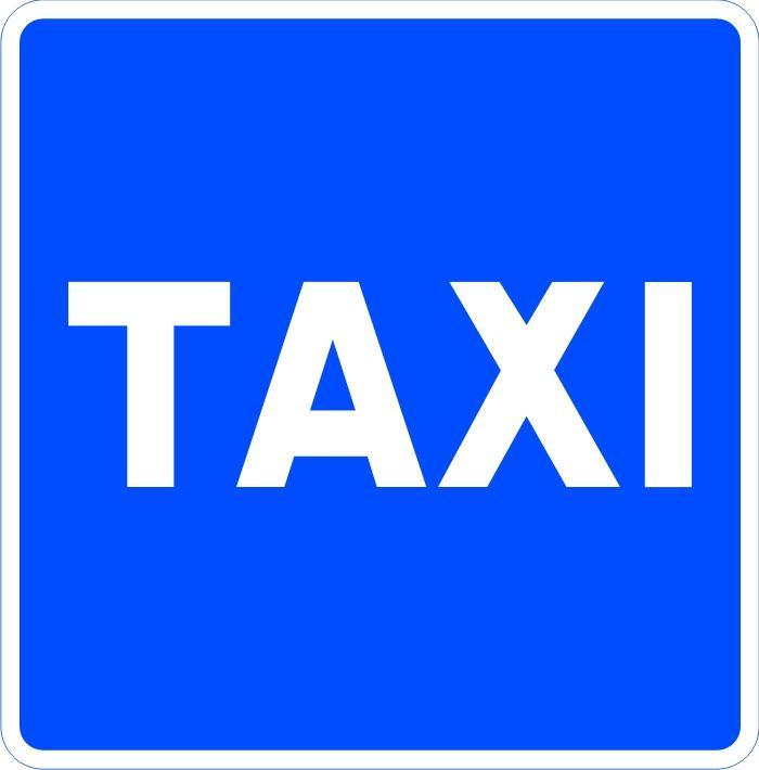 Señal estacionamiento reservado para taxis