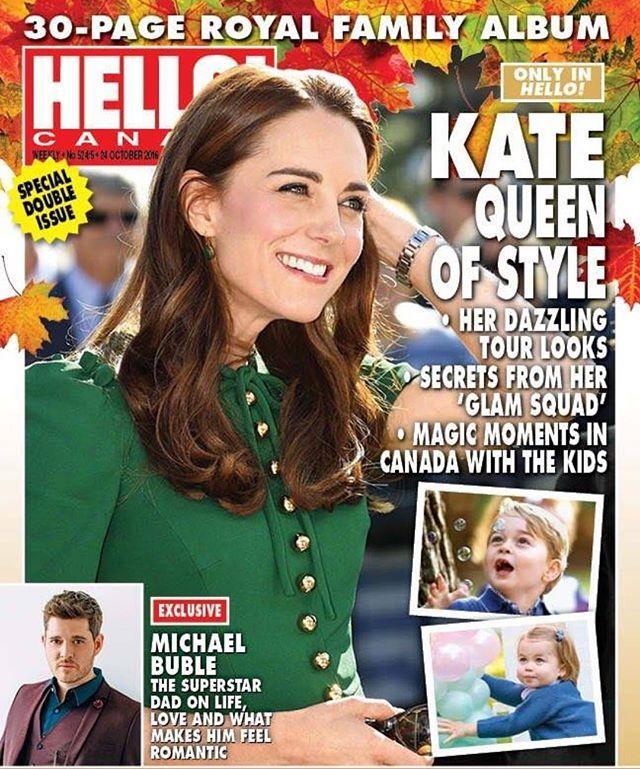 Catherine on the next issue of Hello! It looks awesome and 30 pages ❤️#instalikes #instaglam #royaltour #canada #hello #catherinemiddleton #catherine #kate #katemiddleton #katestyle #charlotte #princesscharlotte #george #princegeorge #duchess #duchessofcambridge #duchesskate #william #duke #royaltour #magazine #royal #royalty #royals #instagood #instadaily