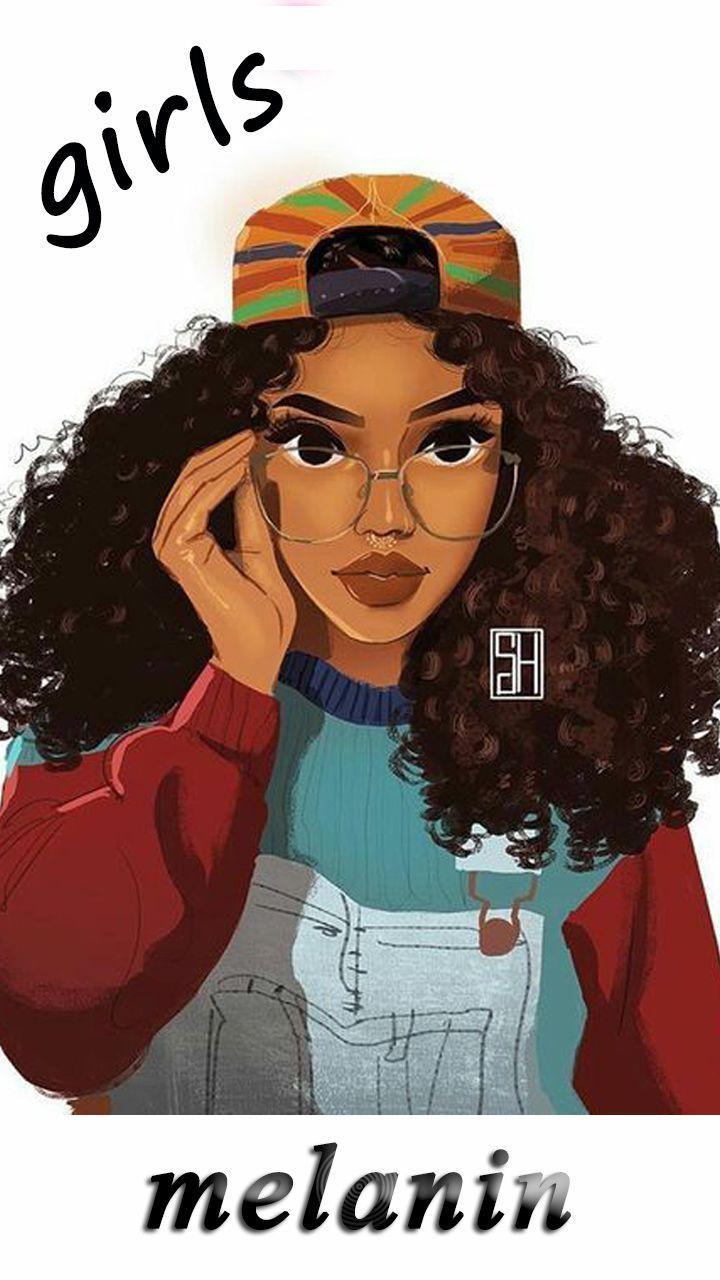 Cute Black Girls Wallpapers For Girls Android Wallpaper App 715509459529933848 Black Girl Cartoon Black Girl Magic Art Cute Girl Wallpaper
