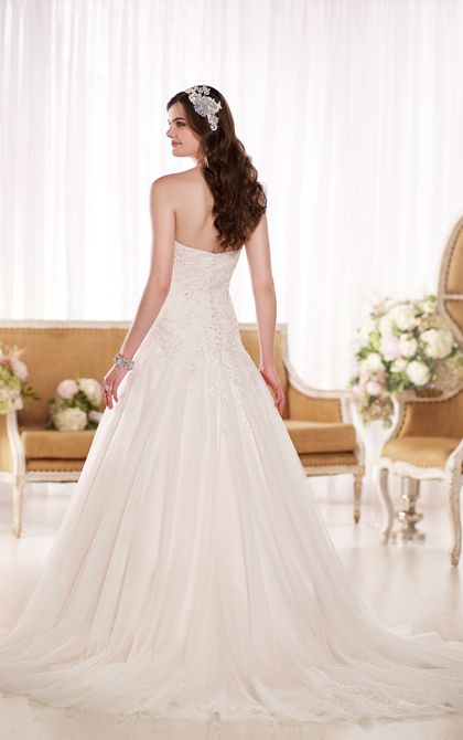 A Line Lace Wedding Dress | Wedding Dresses | Essense of Australia #Essense #weddingdress