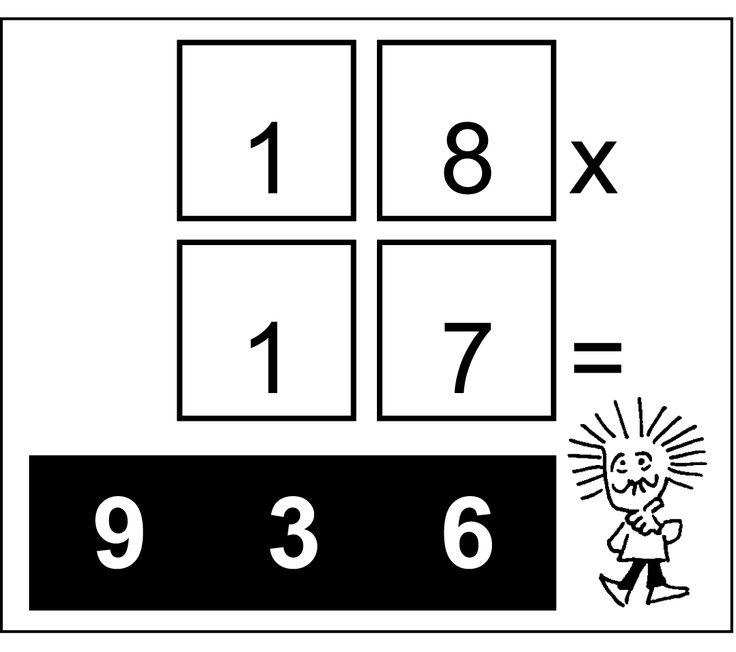 Questa moltiplicazione è sbagliata.   Spostate un solo numero in modo da renderne esatto il prodotto #enigmionline #rebus  #enigmi #albus #matematicialbus #cruciverba #puzzle #giochionline #albus2016 #enigmistica2016 #enigmistica