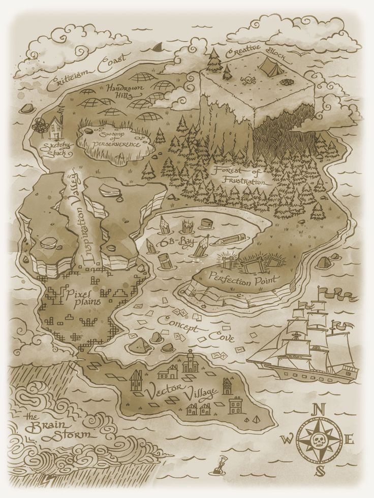 #handypixels #illustration #treasuremap #pirate #piratemap #treasureisland #map #oldmap