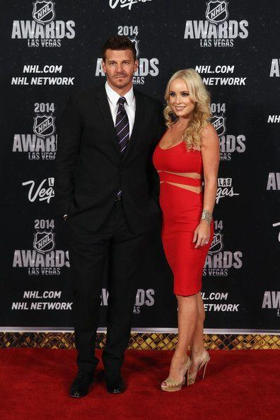 David Boreanaz Photos Photos - Actor David Boreanaz and wife Jaime Bergman…