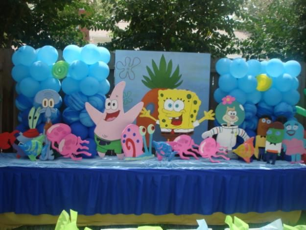 Table set up. Spongebob ... & 22 best Project Moodboard: Spongebob Cake and Desserts Table images ...
