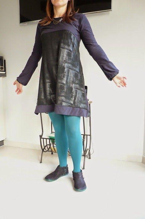 abri à tissus: Tunique-robe TOP