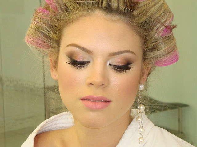 love this pinky lips & lids look!