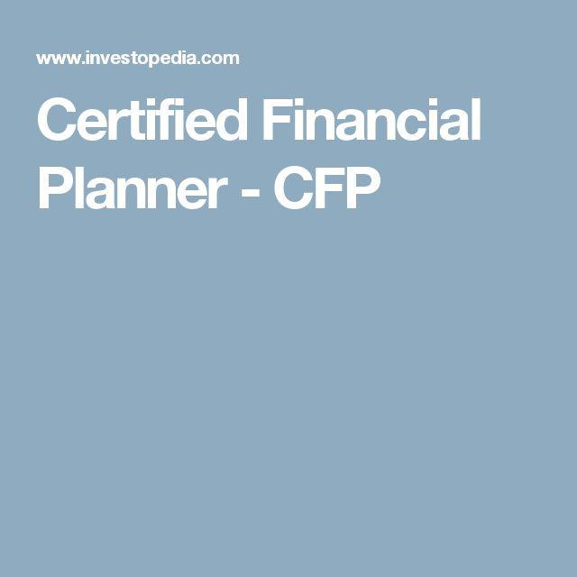Certified Financial Planner - CFP
