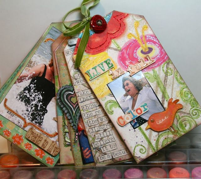 Lynne's Art World: Some Inspiring Words All Wrapped Up In A Mini Album Of Tags...