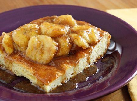 Rabanada com calda de banana - Veja mais em: http://www.cybercook.com.br/receita-de-rabanada-com-calda-de-banana.html?codigo=109069