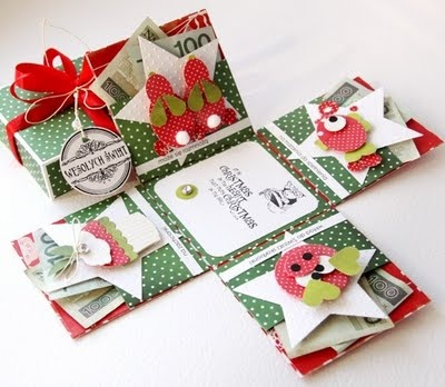 explosion box: Money Holders For Christmas, Gifts Cards, Money Gifts, Color, Explosions Boxes, Cute Ideas, Christmas Exploding Boxes, Great Ideas, Gifts Boxes