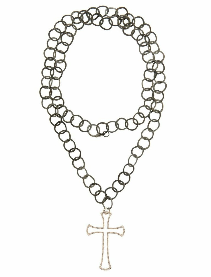 Zeus+Δione - handmade chain diamond cross