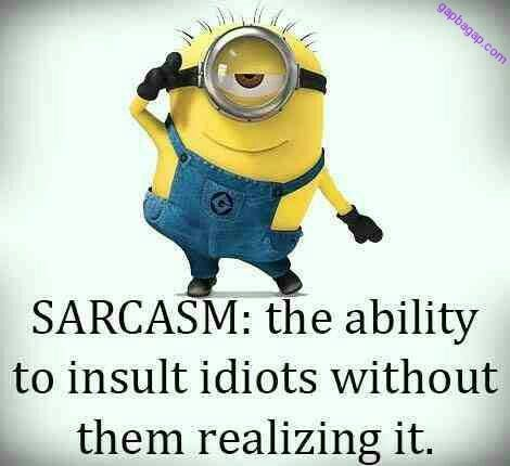 Funny Joke About Sarcasm By Minions