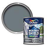 Dulux Weathershield External Gallant Grey Satin Paint 750ml | Departments | DIY at B&Q