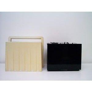 Tv Black in bianco nero designer Zanuso e Sapper by Brionvega made in Italy 1969 nero con custodia bianca