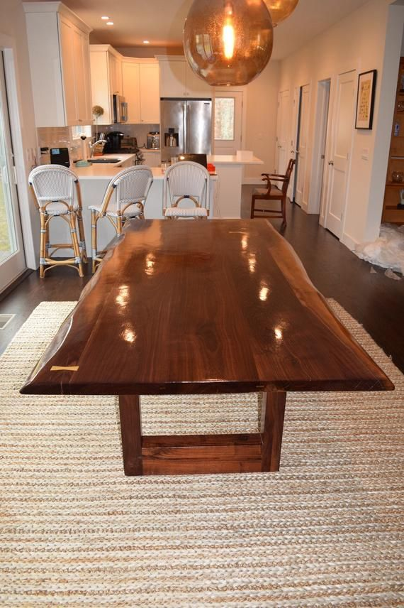 Live Edge Dining Table Various Species Available Etsy Live