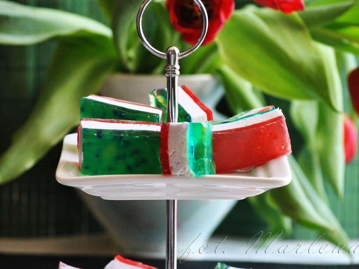 Deser w barwach Italli- Tricolore italiano