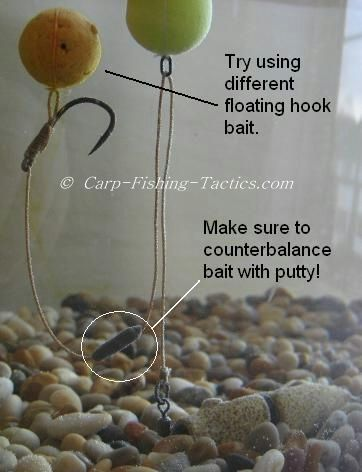 Counterbalancing the carp rigs buoyancy