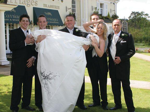 Don't drop her gentlemen! @The Devon Hotel & Carriages Restaurant www.devonhotel.co.uk