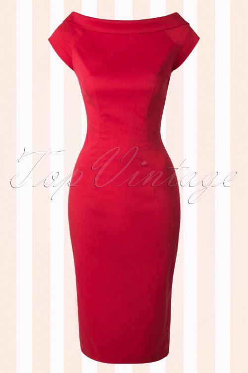 Collectif Cloting Cordelia Red Pencil Dress 17743 20151119 0010W
