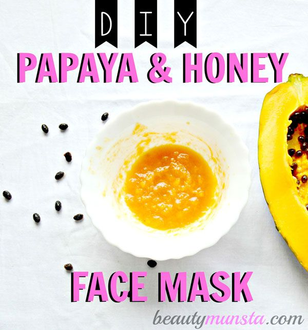 Papaya is full of natural enzymes that nourish, soften and exfoliate skin. Make this skin whitening homemade papaya and honey face mask for bright glowing skin
