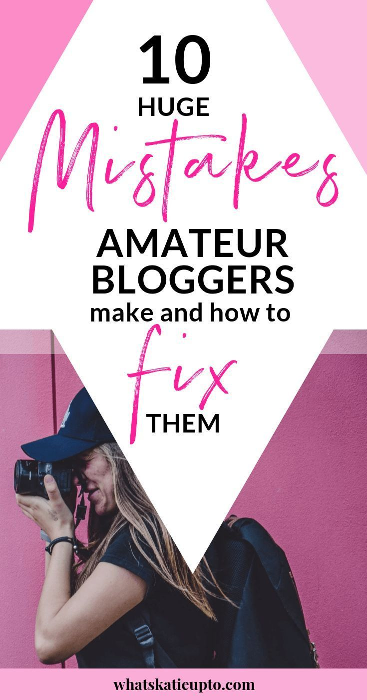 In This Post Want To Go Over The Biggest Mistakes Amateur Blogs Make And How