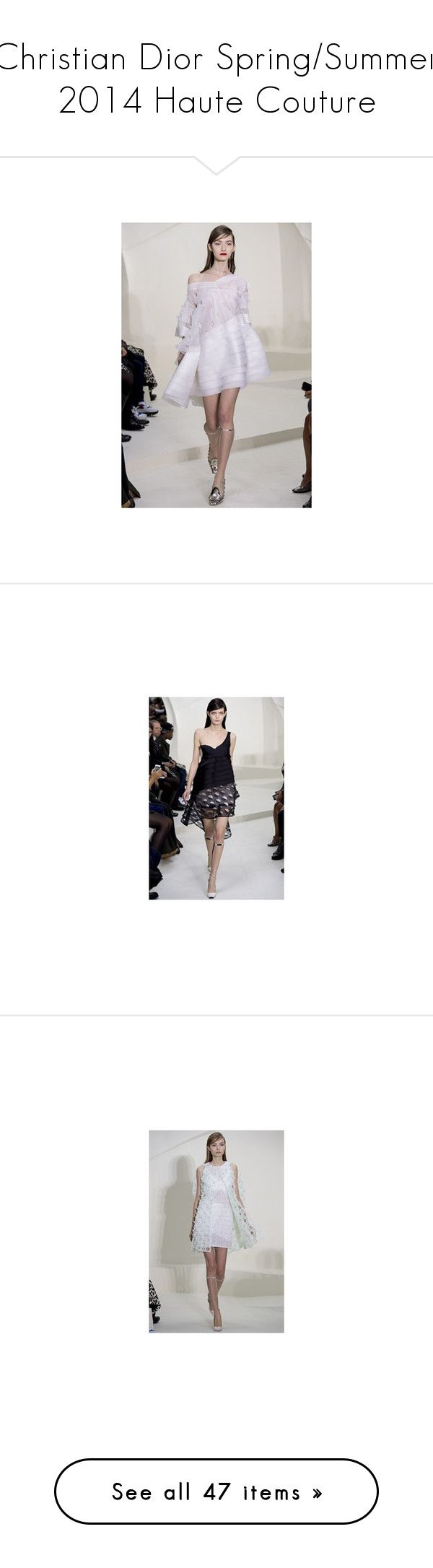 """""""Christian Dior Spring/Summer 2014 Haute Couture"""" by kusja ❤ liked on Polyvore featuring Dior, hautecouture, pics, gown and gowns"""