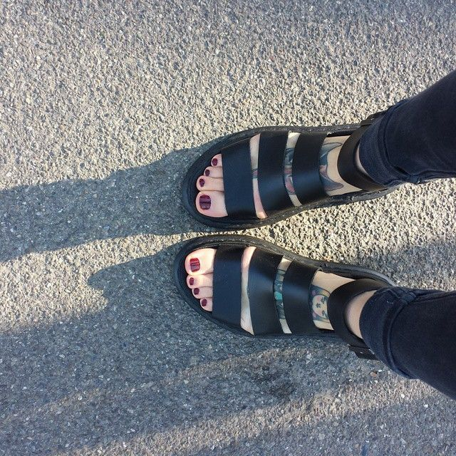 The #DrMartens Clarissa Sandal, Shared by bazxlingerie on Instagram