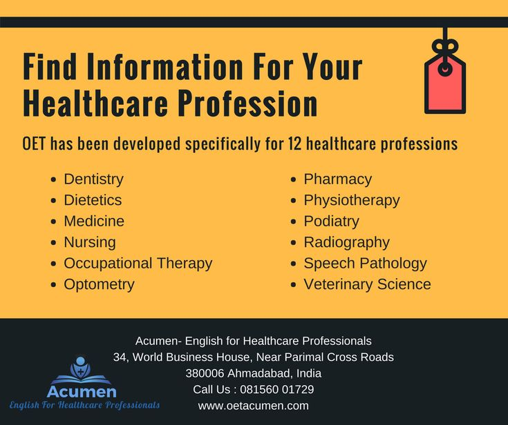 Find information for your #healthcare #profession #OET