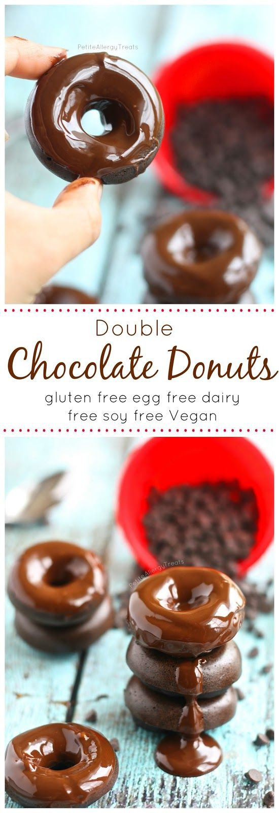 Chocolate Donuts (gluten free egg free dairy free Vegan)- Decadent chocolate drenched donuts that ROCK the food allergy world!