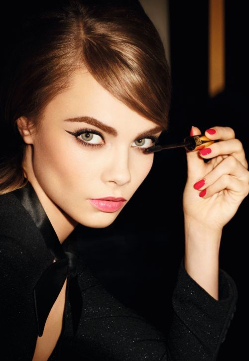 Cara Delevingne for Yves Saint Laurent Beauty Faux Cils Babydoll S/S 2013.