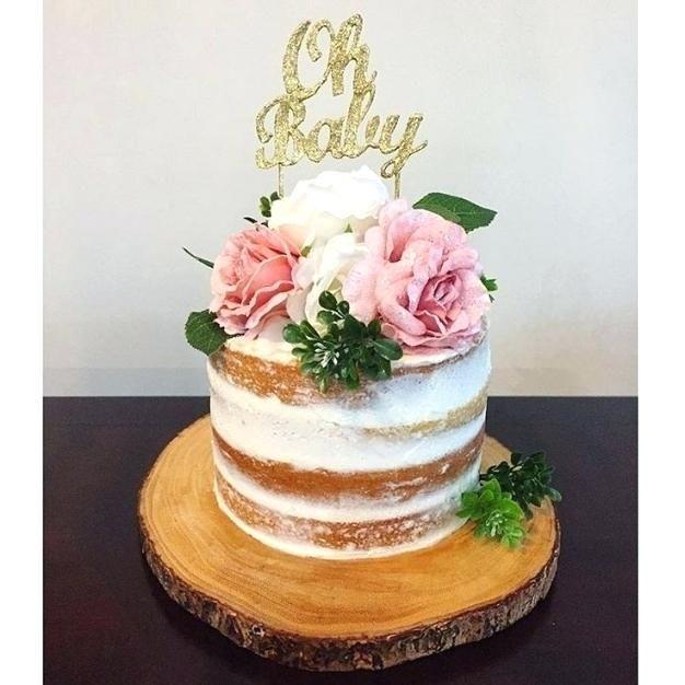 Rustic Ba Shower Cake Best Rustic Girl Ba Shower Cake Rustic
