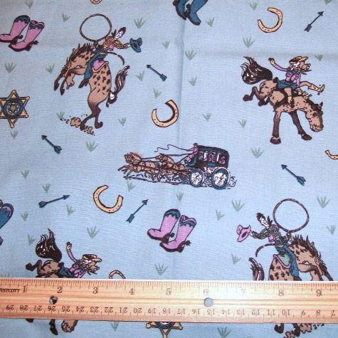 Cowboys Cotton Fabric