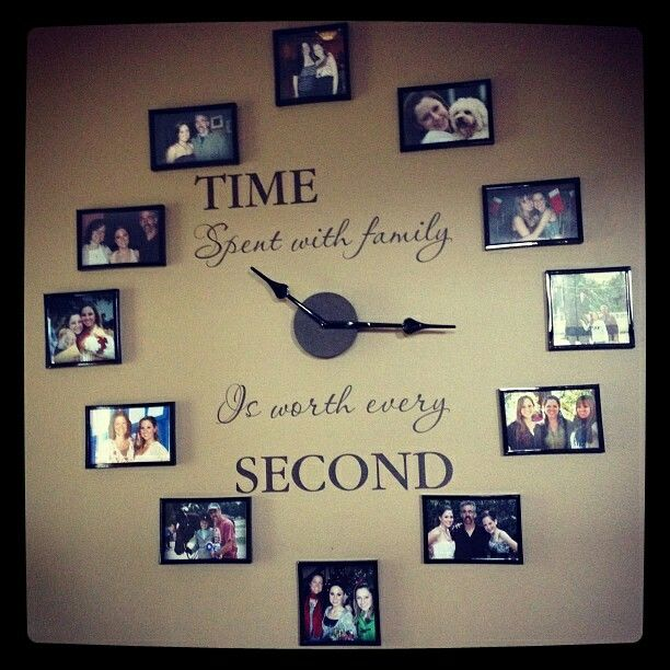 Love this family clock, what a way to show your family pictures and the special love of family.