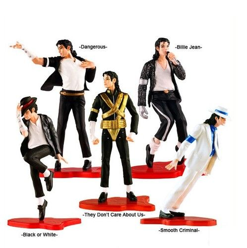 5 Figure Set Michael Jackson..cake topper