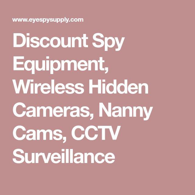 Discount Spy Equipment, Wireless Hidden Cameras, Nanny Cams, CCTV Surveillance